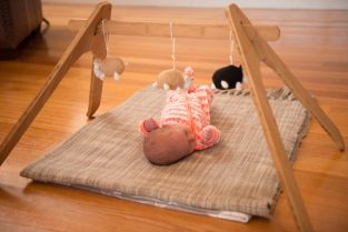 bamboo baby gym